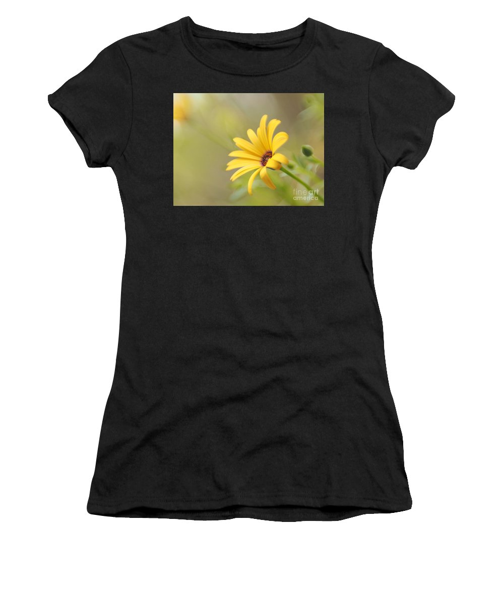 Flowers Women's T-Shirt (Athletic Fit) featuring the photograph Lemon Symphony Dreams 5 by Dorothy Lee