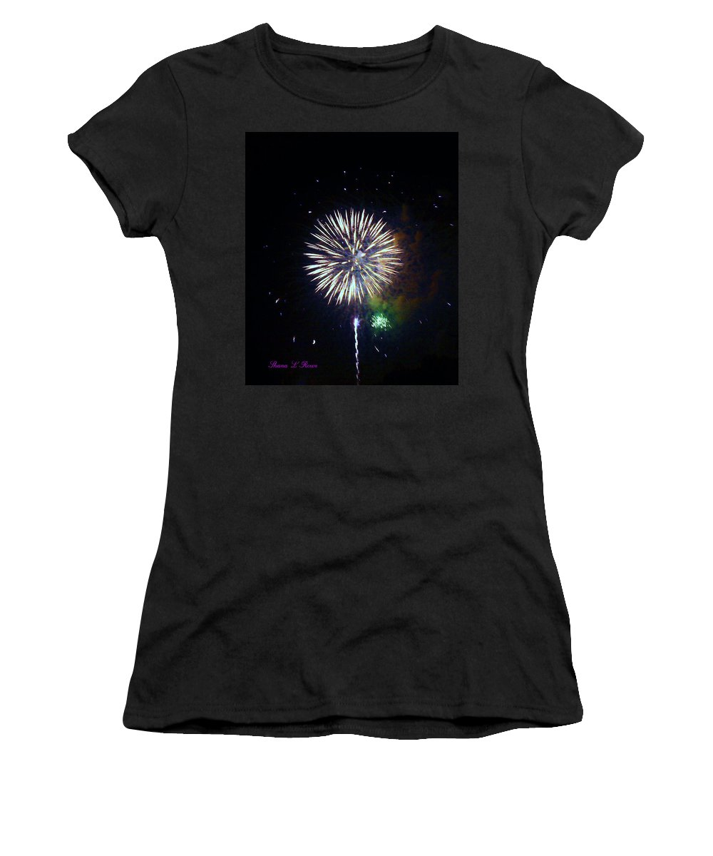 Fireworks Women's T-Shirt featuring the photograph Lets Celebrate by Shana Rowe Jackson