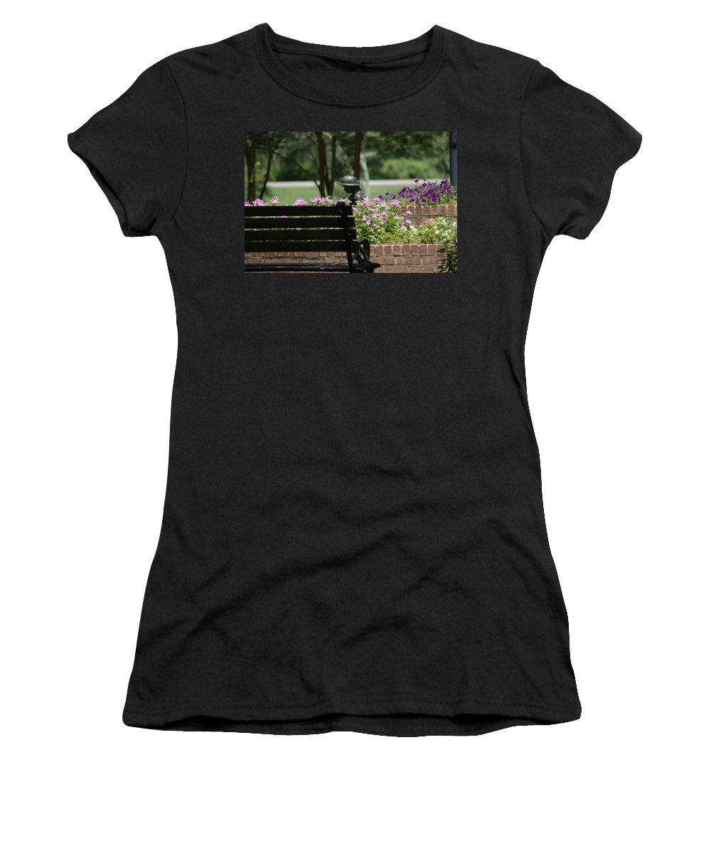 Garden Women's T-Shirt (Athletic Fit) featuring the photograph Lets Rest by Donna Bentley