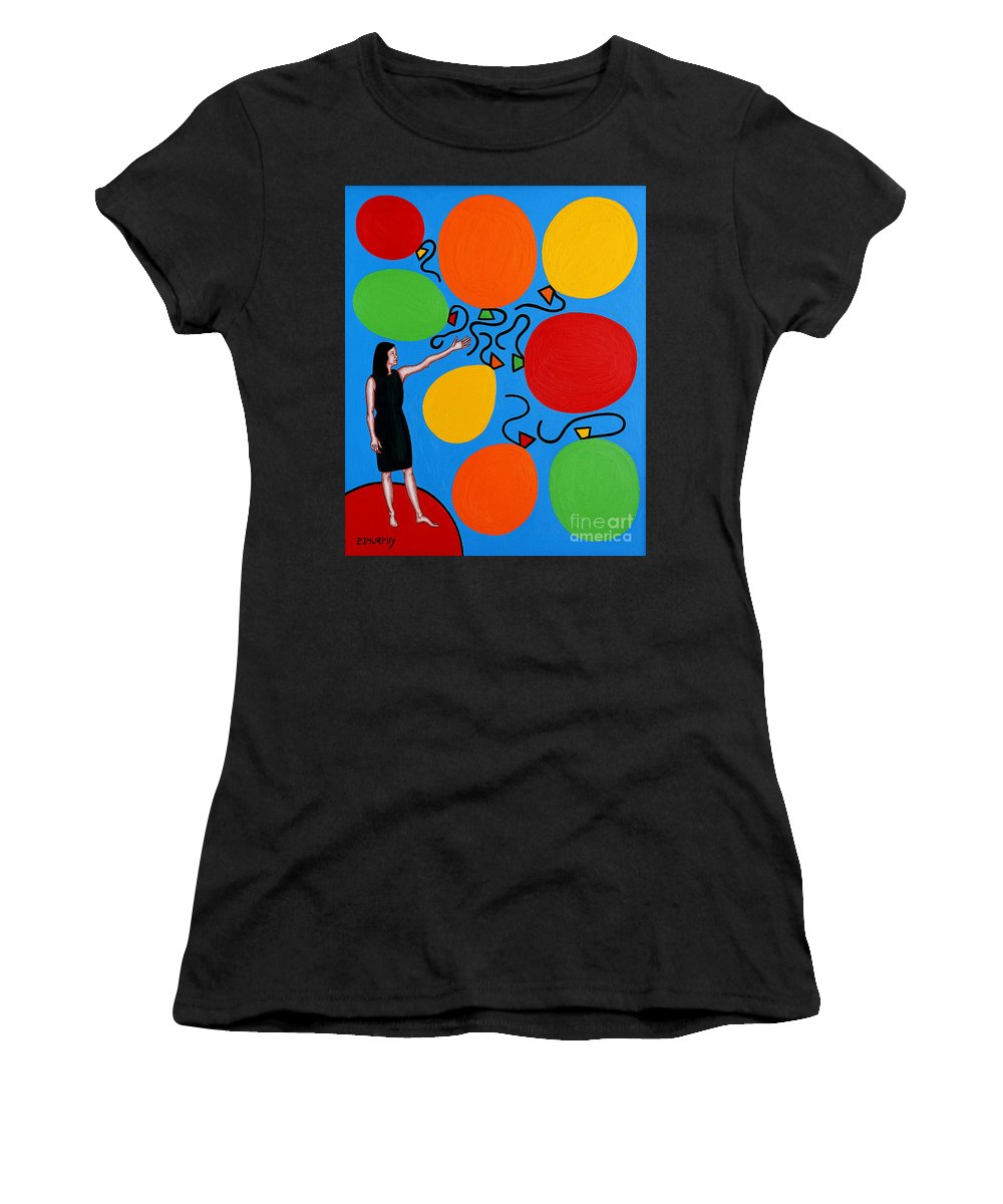 Release Women's T-Shirt featuring the painting Letting Go by Patrick J Murphy