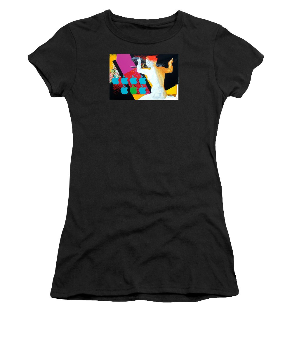 Classic Women's T-Shirt (Athletic Fit) featuring the painting Libyan by Jean Pierre Rousselet