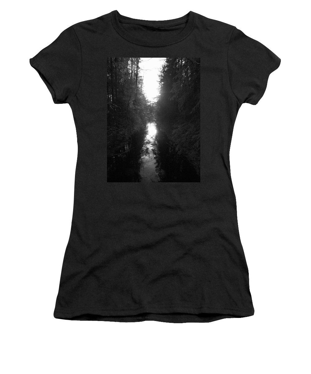 Lehtokukka Women's T-Shirt (Athletic Fit) featuring the photograph Liesijoki 2 by Jouko Lehto