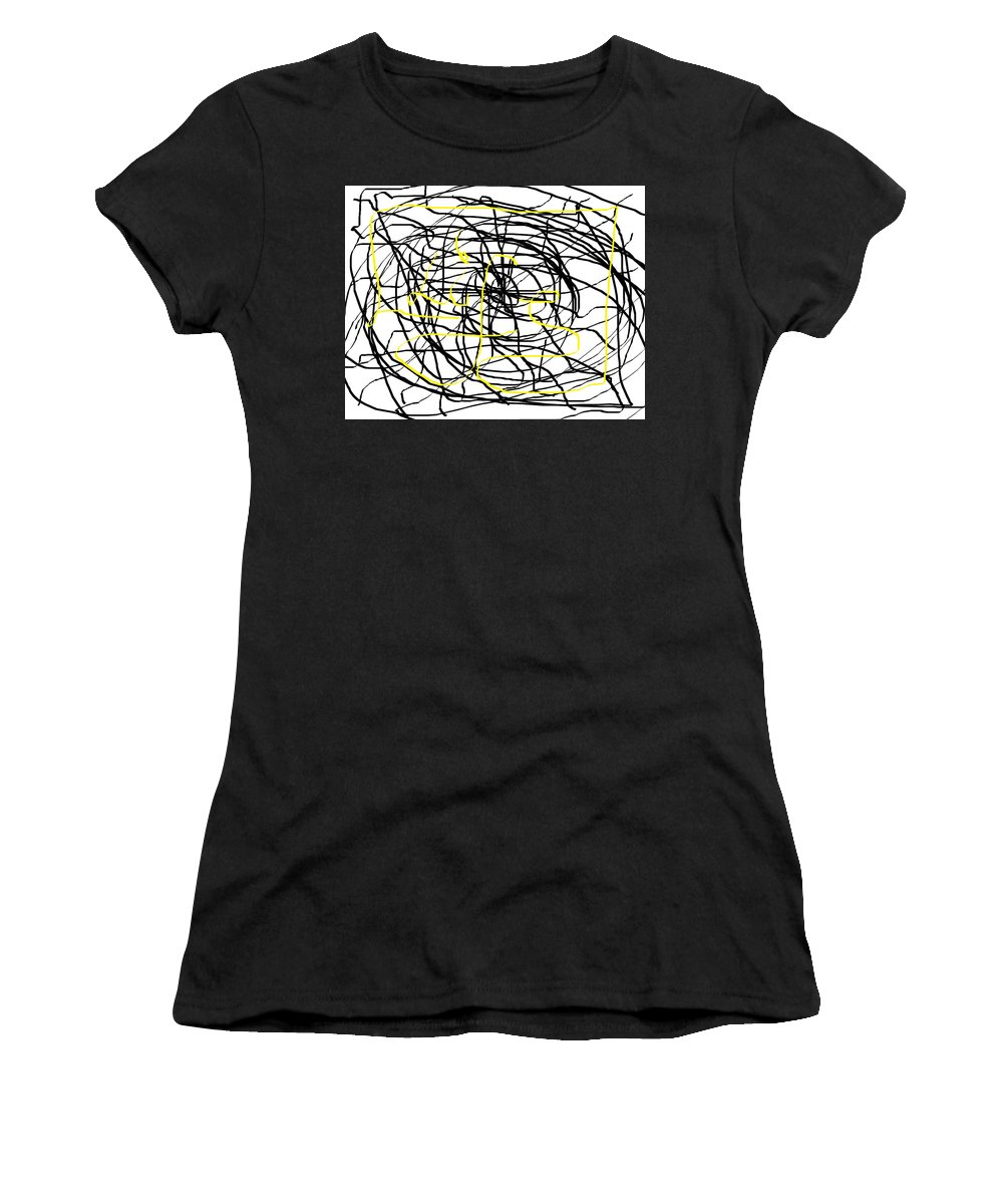 Life Women's T-Shirt (Athletic Fit) featuring the digital art Life. White And Black Life Period But Sunlight Forever. by Bennu Bennu