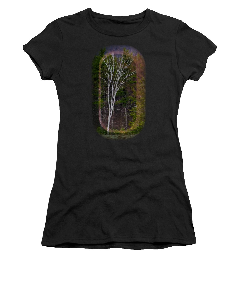 Contoocook Women's T-Shirt featuring the photograph Life's A Birch No.1 by Mark Myhaver