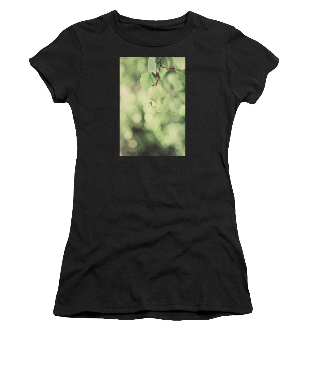 Leaves Women's T-Shirt featuring the photograph Light As The Air by Laurie Search