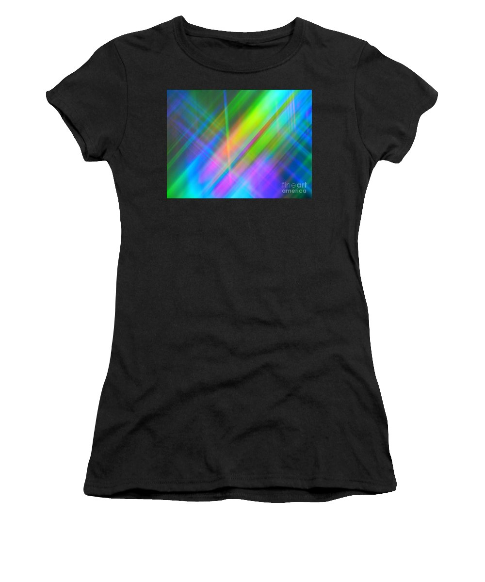 Abstract Women's T-Shirt (Athletic Fit) featuring the photograph Light Color Hatch by Lilian F Norris