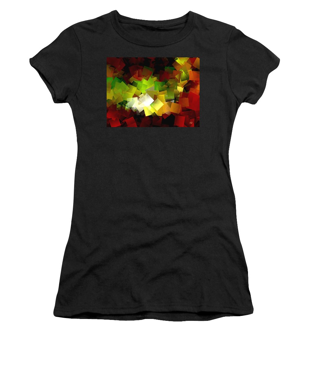 Kubic Women's T-Shirt featuring the digital art Light On The End Of Darkness by Helmut Rottler
