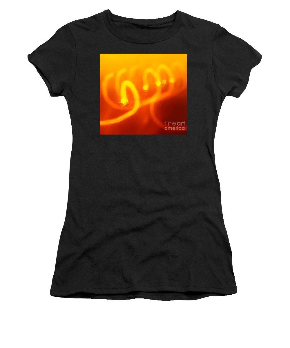 Abstract Women's T-Shirt (Athletic Fit) featuring the photograph Light Trail Abstract by Gaspar Avila