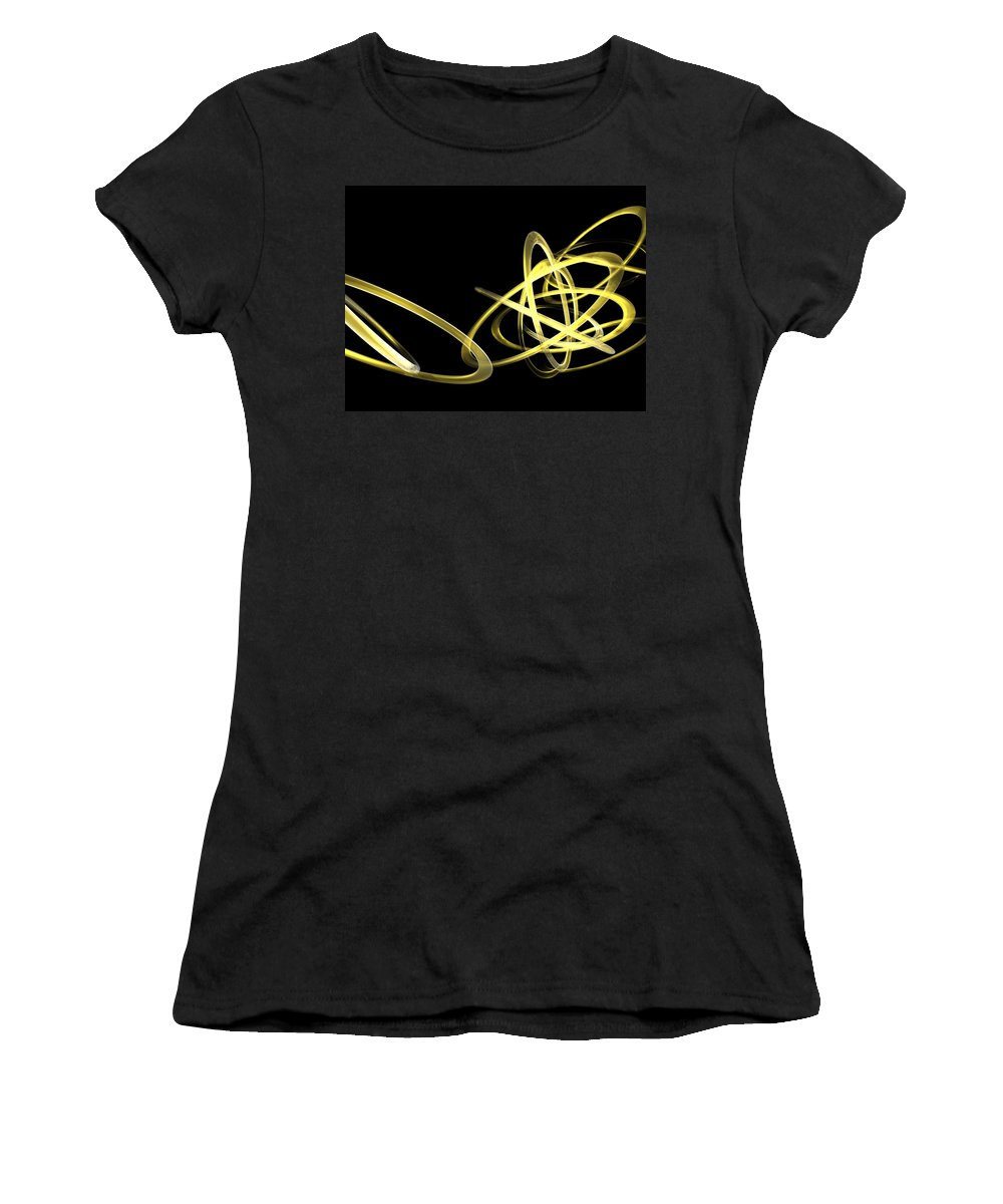 Yellow Women's T-Shirt (Athletic Fit) featuring the photograph Light Yellow by Scott Piers