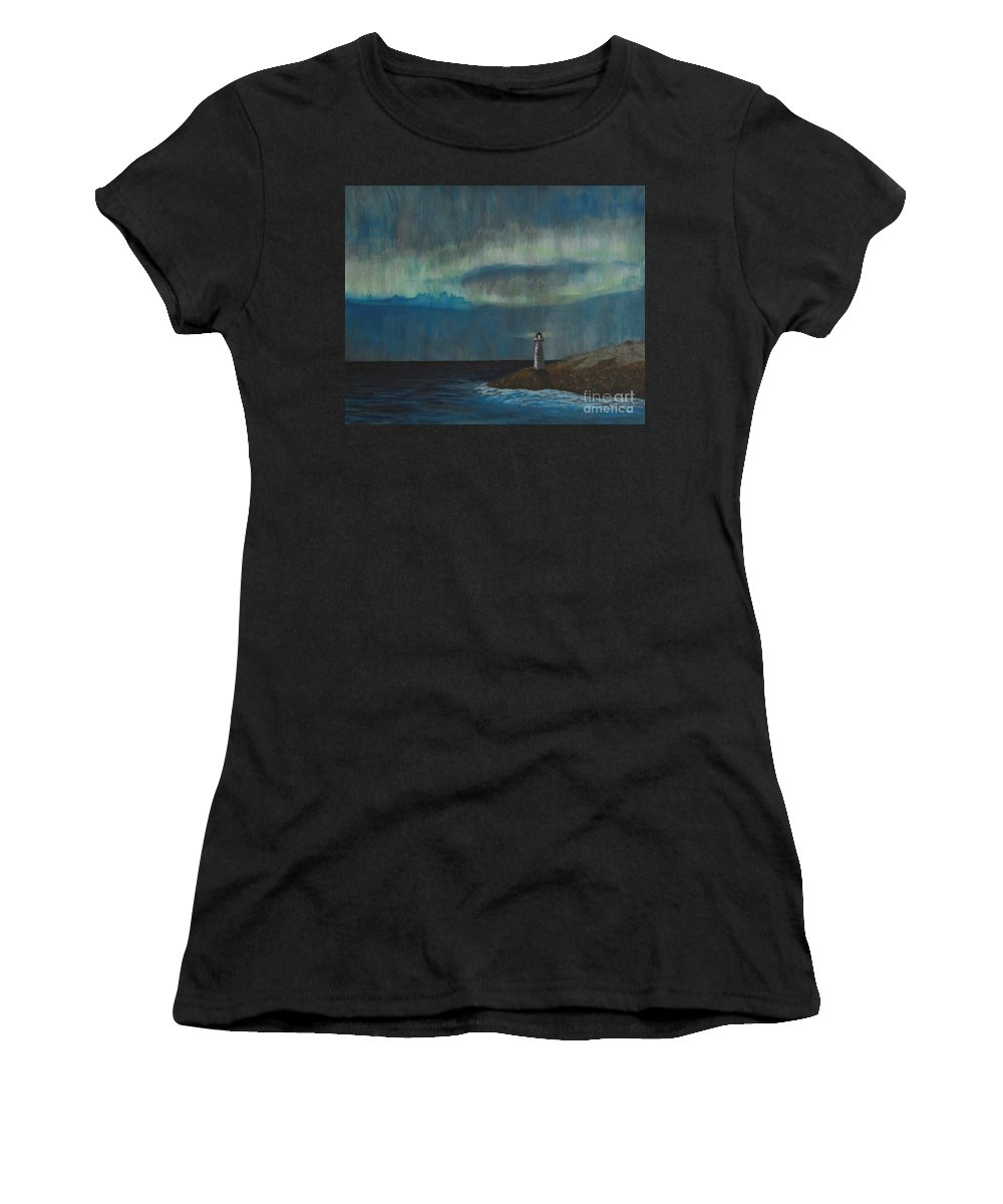 Acrylic Women's T-Shirt featuring the painting Lights by Tania Eddingsaas