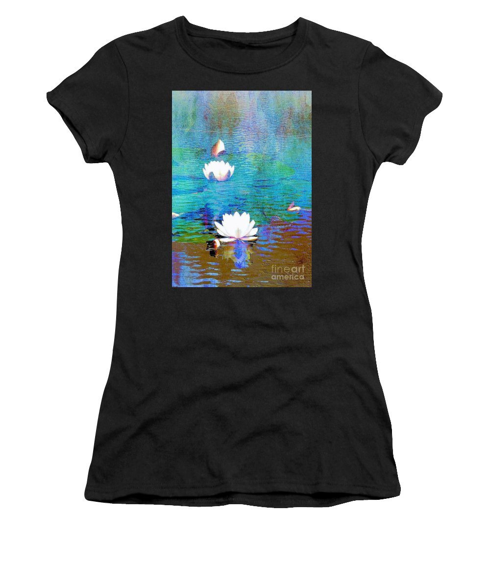 Lily Women's T-Shirt featuring the photograph Lilies In Abstract by Janette Boyd