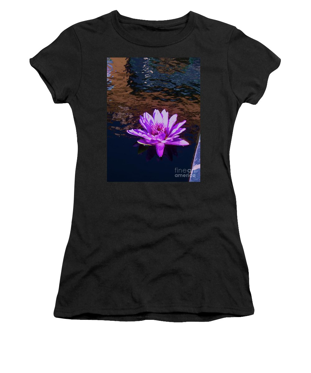 Photograph Women's T-Shirt (Athletic Fit) featuring the painting Lily In Pond by Eric Schiabor
