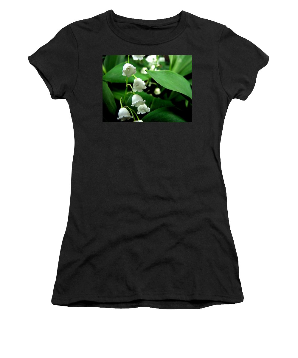 Flower Women's T-Shirt (Athletic Fit) featuring the photograph Lily Of The Valley by Michelle Calkins