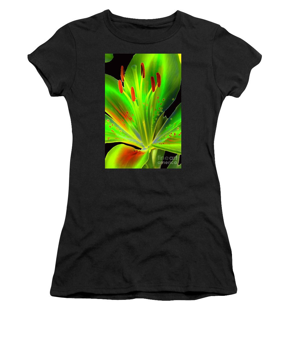 Diane Berry Women's T-Shirt featuring the photograph Lime Twist by Diane E Berry