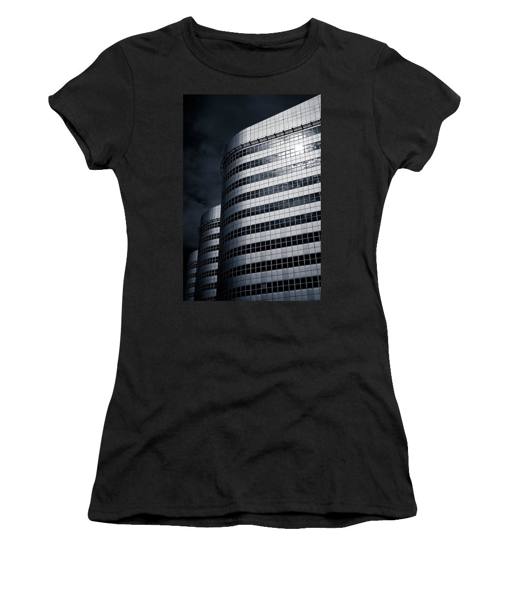 Architecture Women's T-Shirt featuring the photograph Lines And Curves by Dave Bowman