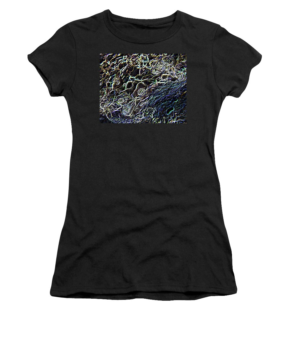 Digital Art Women's T-Shirt (Athletic Fit) featuring the photograph Little Bubbles In Sobel by Jeff Swan
