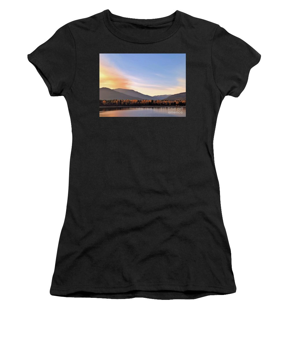 Shuswap Women's T-Shirt featuring the photograph Little River In The Fall 2 by Victor K