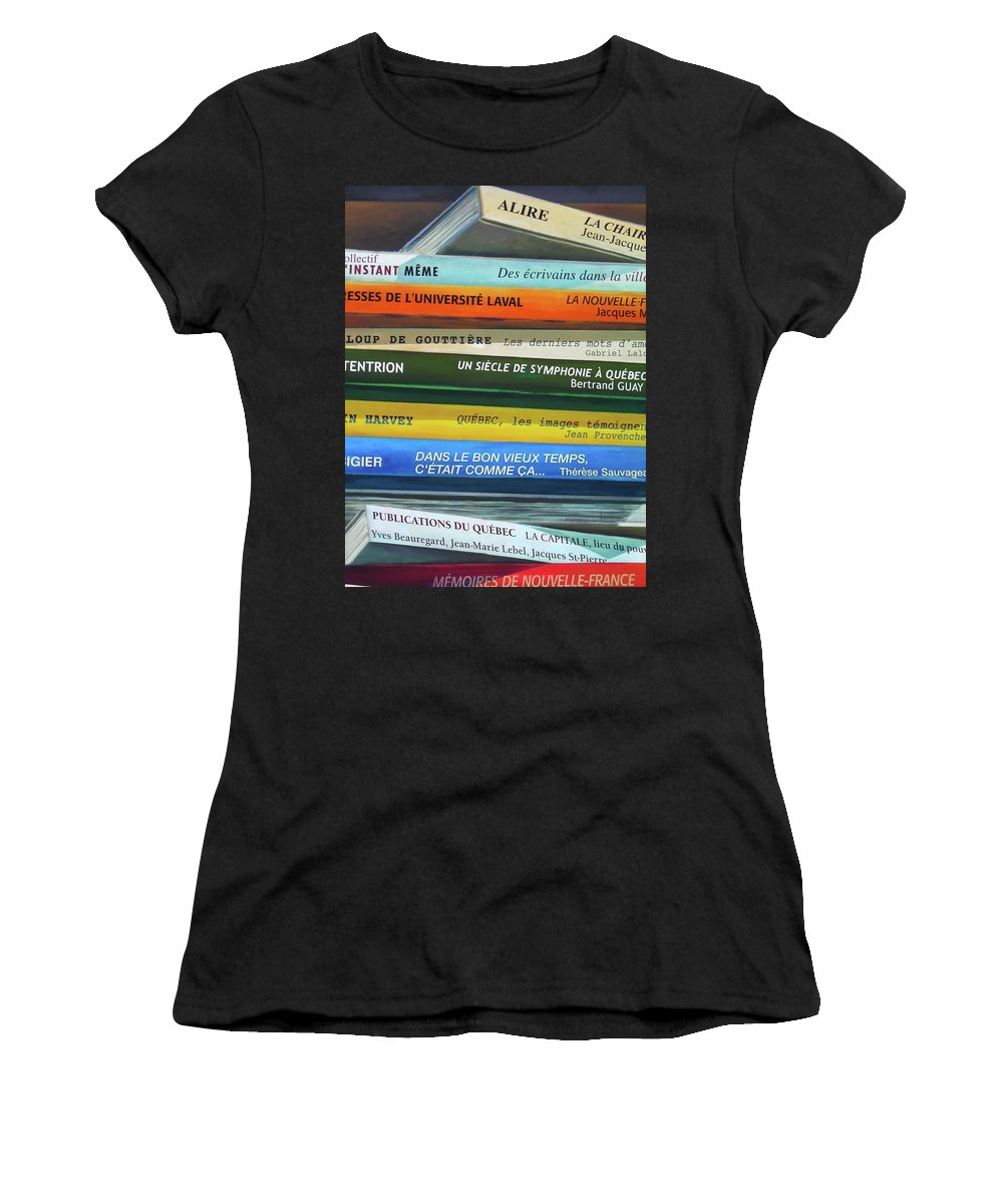 Paint Women's T-Shirt featuring the photograph Livres ... by Juergen Weiss