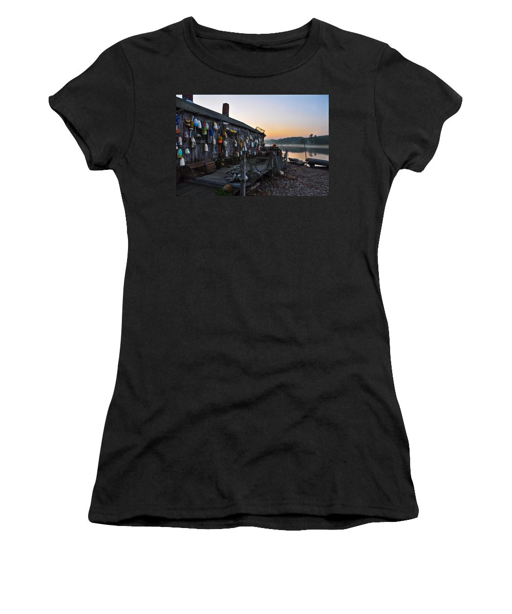Lobster Shack Women's T-Shirt (Athletic Fit) featuring the photograph Lobster Shack by Catherine Easton
