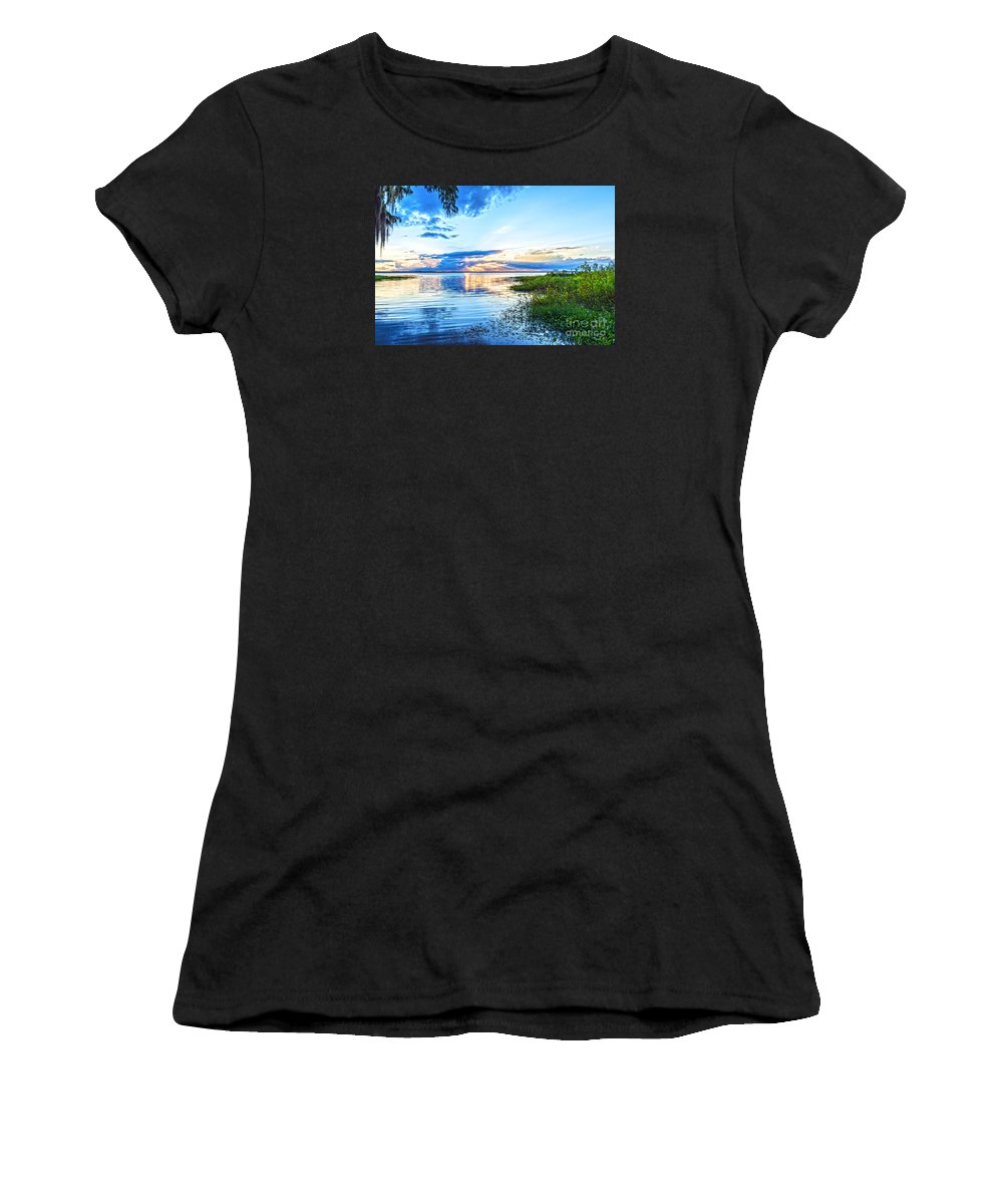 Lochloosa Women's T-Shirt (Athletic Fit) featuring the photograph Lochloosa Lake by Anthony Baatz