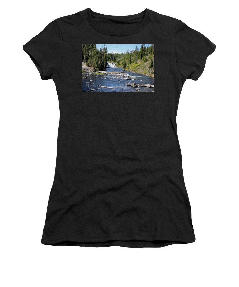 Outdoor Images Women's T-Shirt (Athletic Fit) featuring the photograph Log Jam by Felipe Gomez
