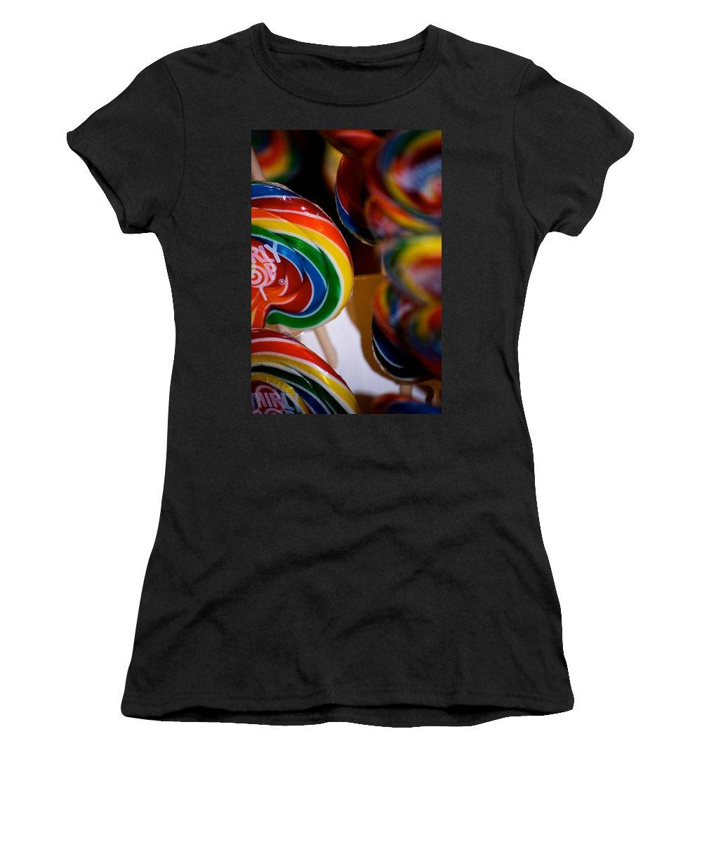 Lollipops Women's T-Shirt (Athletic Fit) featuring the photograph Lollipops by Lisa Knechtel