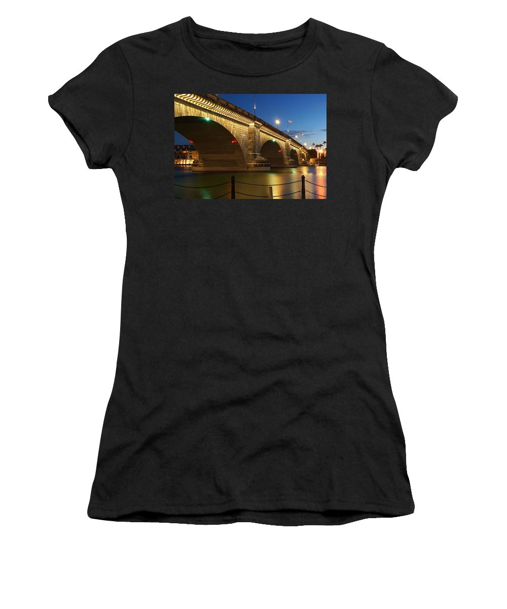 Water Women's T-Shirt (Athletic Fit) featuring the photograph Twilight Reflections by Broderick Delaney