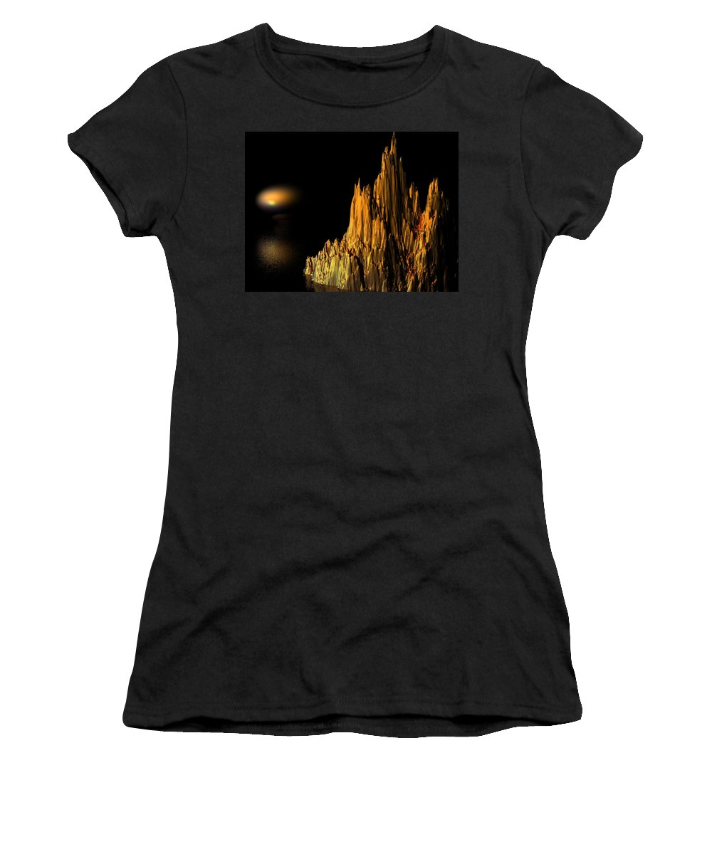 Surreal Women's T-Shirt (Athletic Fit) featuring the digital art Loneliness by Oscar Basurto Carbonell