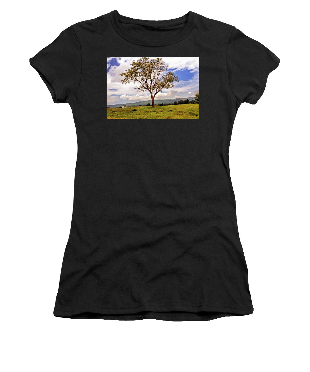 Recent Women's T-Shirt (Athletic Fit) featuring the photograph Long Tree Shenandoah Valley West Virginia by Geraldine Scull