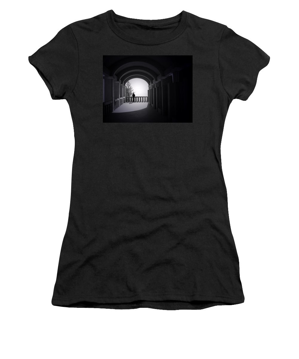 Building Women's T-Shirt featuring the photograph Longing by Tara Turner
