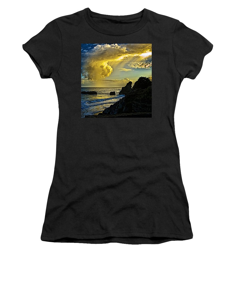 Stones Women's T-Shirt (Athletic Fit) featuring the photograph Looking At The Sky by Galeria Trompiz
