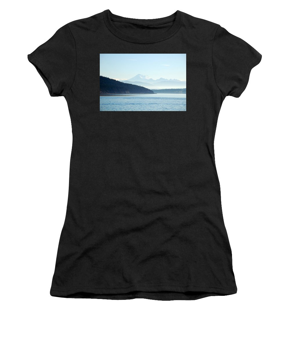 Mountains Women's T-Shirt (Athletic Fit) featuring the photograph Looking Back by Neal Itzkowitz