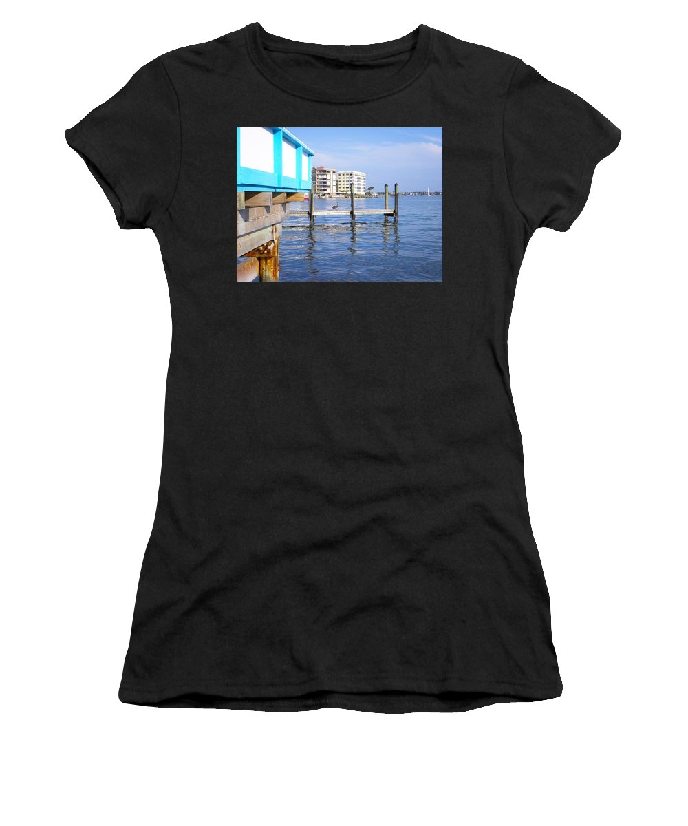 Pelican Women's T-Shirt (Athletic Fit) featuring the photograph Looking For Scaps by Ric Schafer