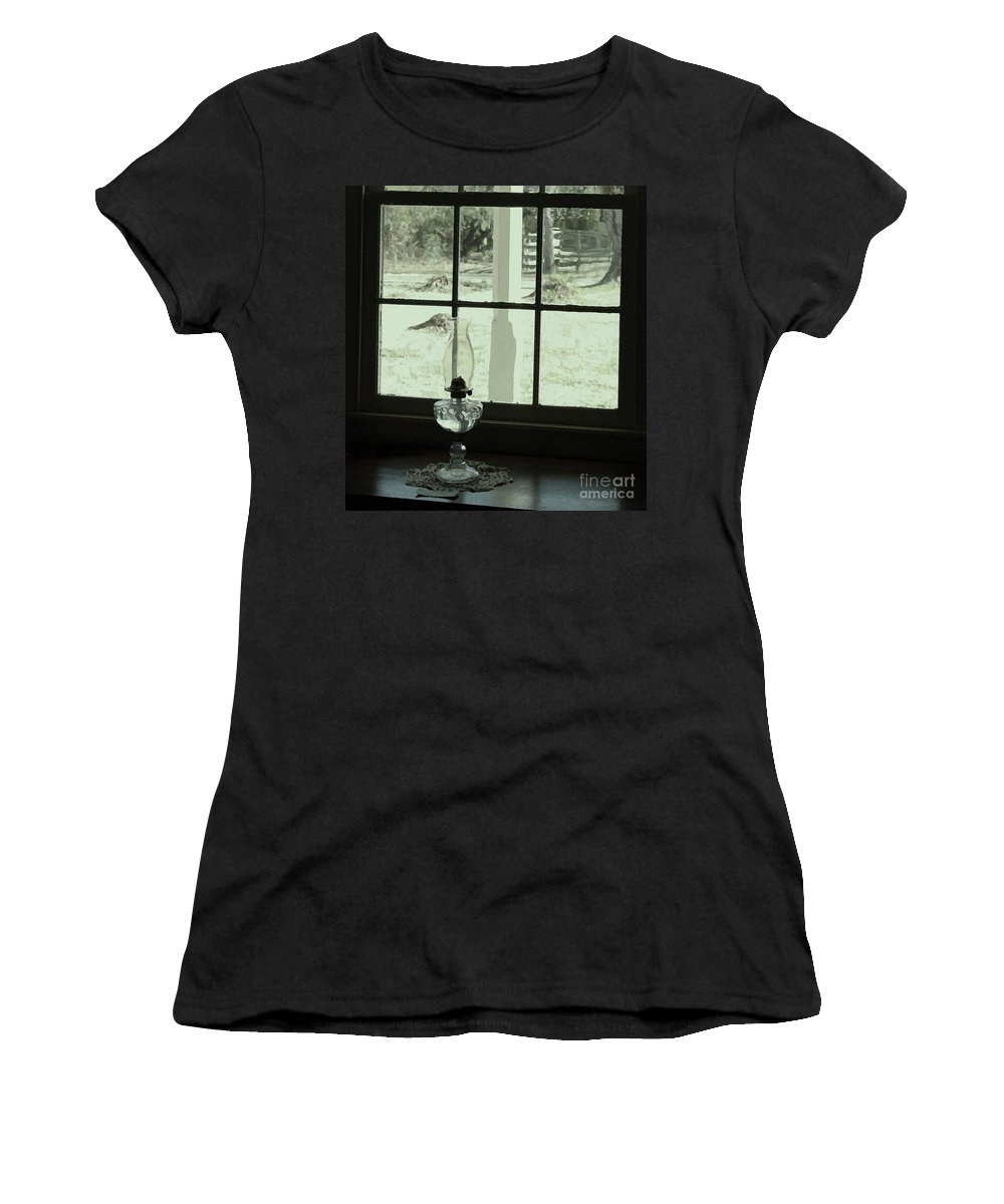Primitive Photographs Women's T-Shirt (Athletic Fit) featuring the photograph Looking Out by Kim Henderson
