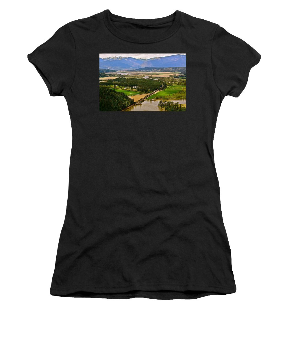 Landscape Women's T-Shirt featuring the photograph Looking Toward Bonners Ferry by Diana Hatcher