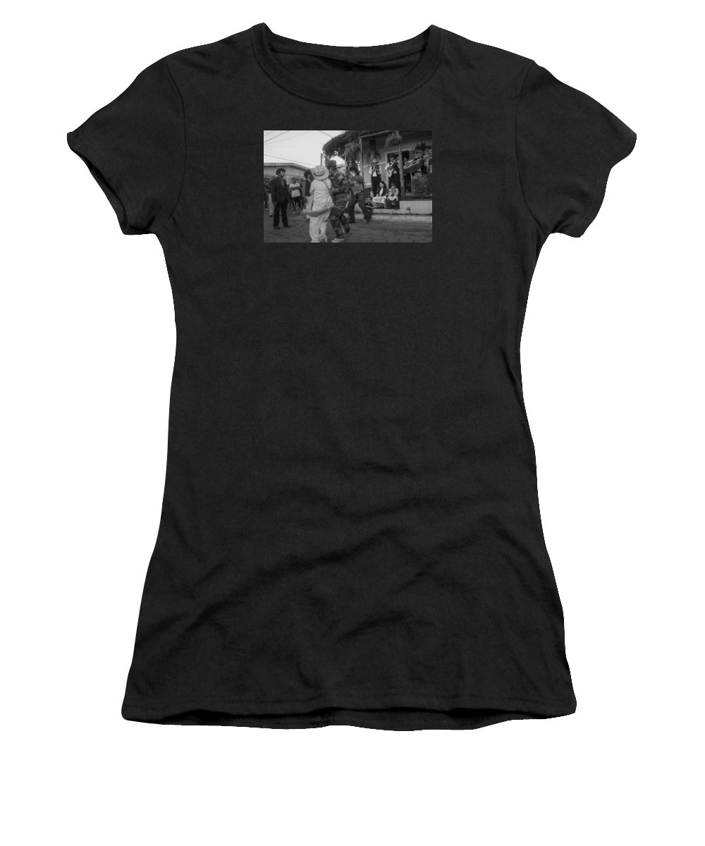 Historiantes Women's T-Shirt (Athletic Fit) featuring the photograph Los Historiantes De Apaneca 2 by Totto Ponce