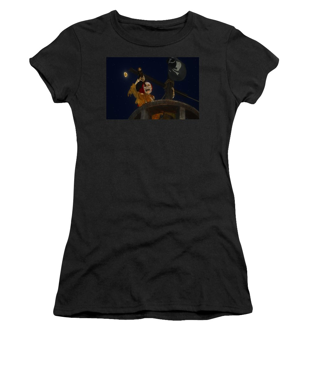 Pirate Women's T-Shirt (Athletic Fit) featuring the painting Lost Dutchman by David Lee Thompson