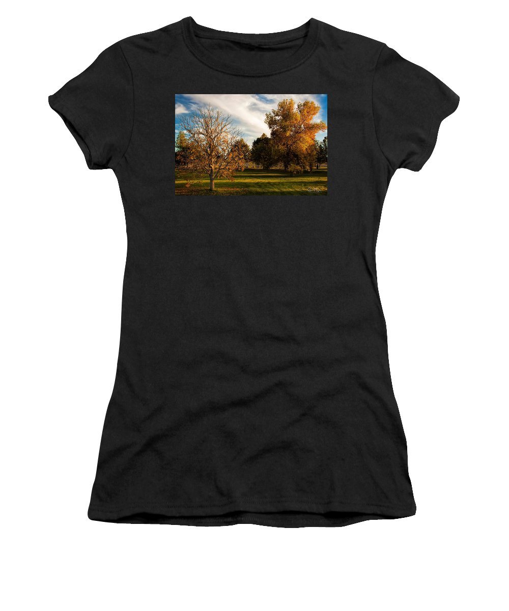 Autumn Women's T-Shirt (Athletic Fit) featuring the photograph Lost In Autumn by Steve Sullivan