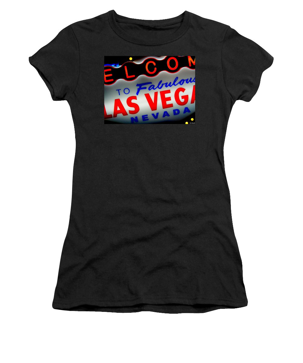 Lost Women's T-Shirt (Athletic Fit) featuring the photograph Lost In Vegas by Ed Smith