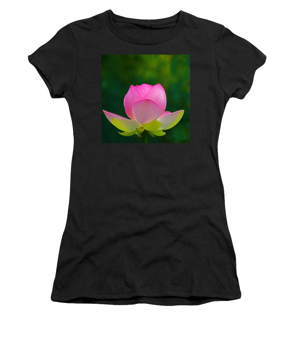 Flower Women's T-Shirt (Athletic Fit) featuring the photograph Lotus Blossom 842010 by Byron Varvarigos
