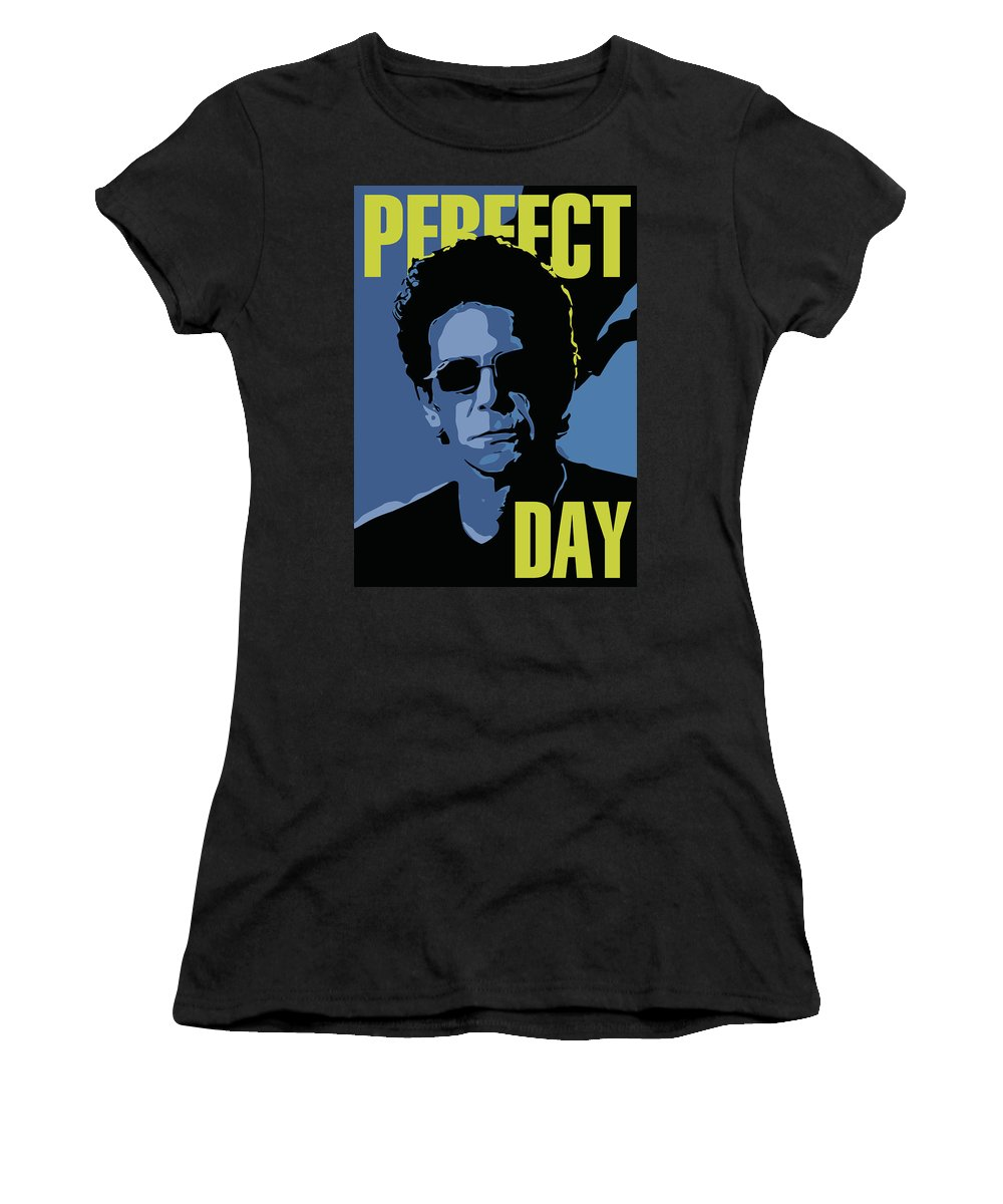 Lou Reed Women's T-Shirt (Athletic Fit) featuring the digital art Lou Reed by Greatom London