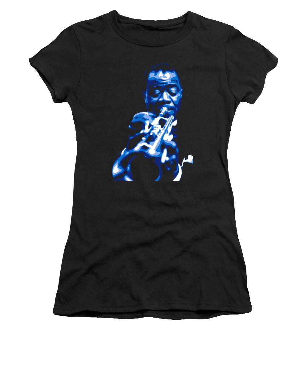 Louis Armstrong Women's T-Shirt featuring the digital art Louis Armstrong by DB Artist