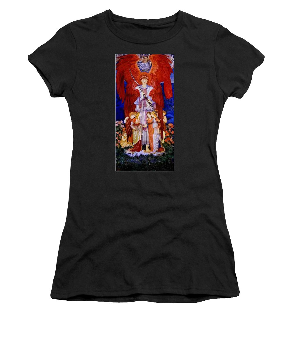 Love Women's T-Shirt (Athletic Fit) featuring the painting Love by BurneJones Edward