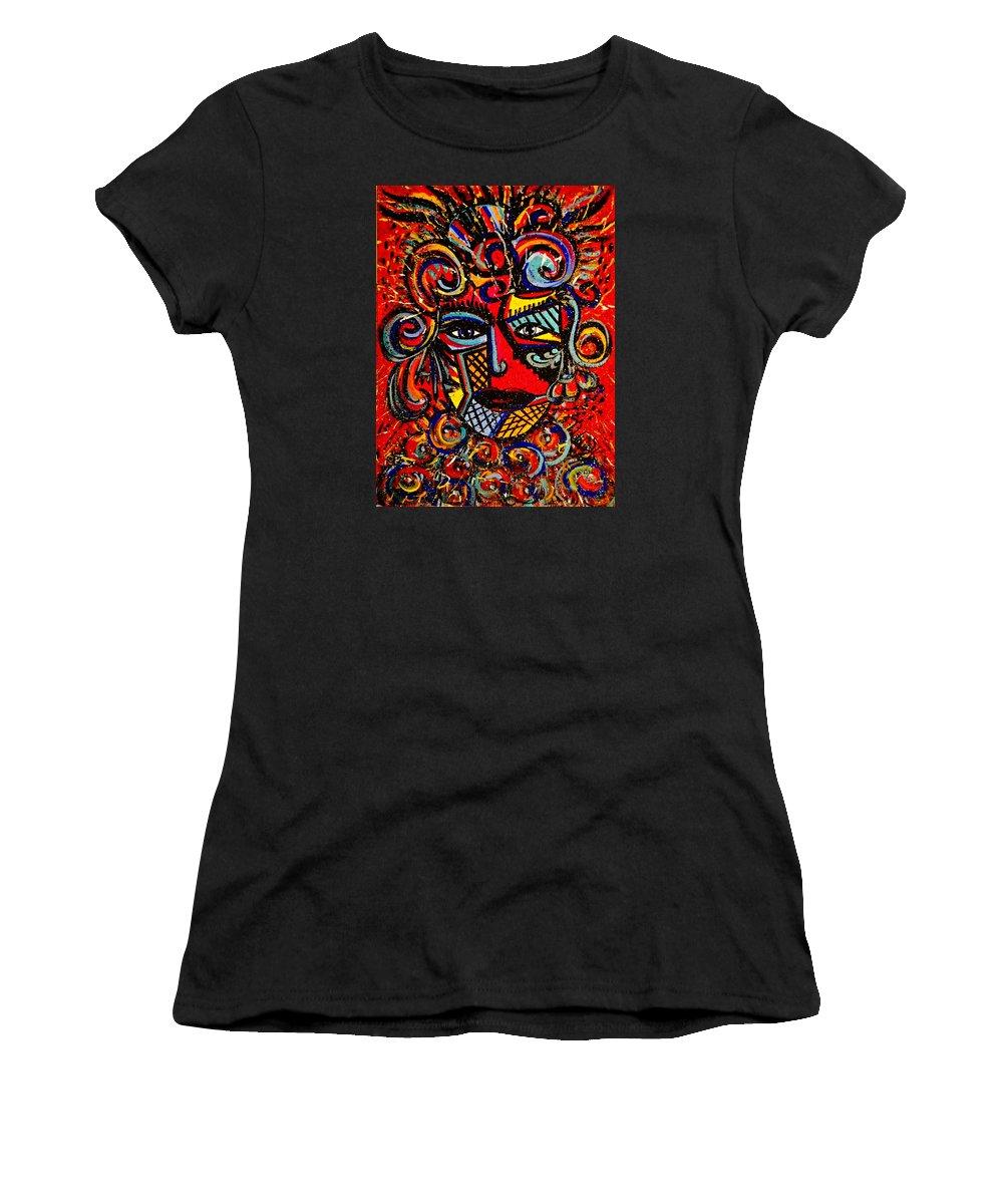 Love Goddess Women's T-Shirt featuring the painting Love Goddess by Natalie Holland