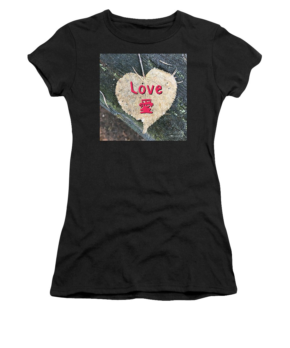 Love Women's T-Shirt (Athletic Fit) featuring the digital art Love by Nobu Nihira