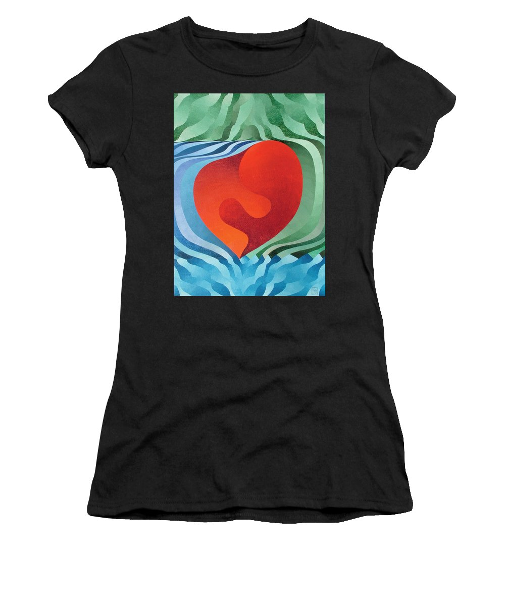 Oil Women's T-Shirt featuring the painting Love by Peter Antos