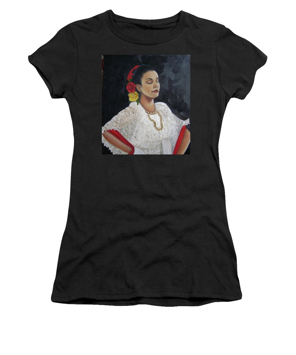 Women's T-Shirt (Athletic Fit) featuring the painting Lucinda by Toni Berry