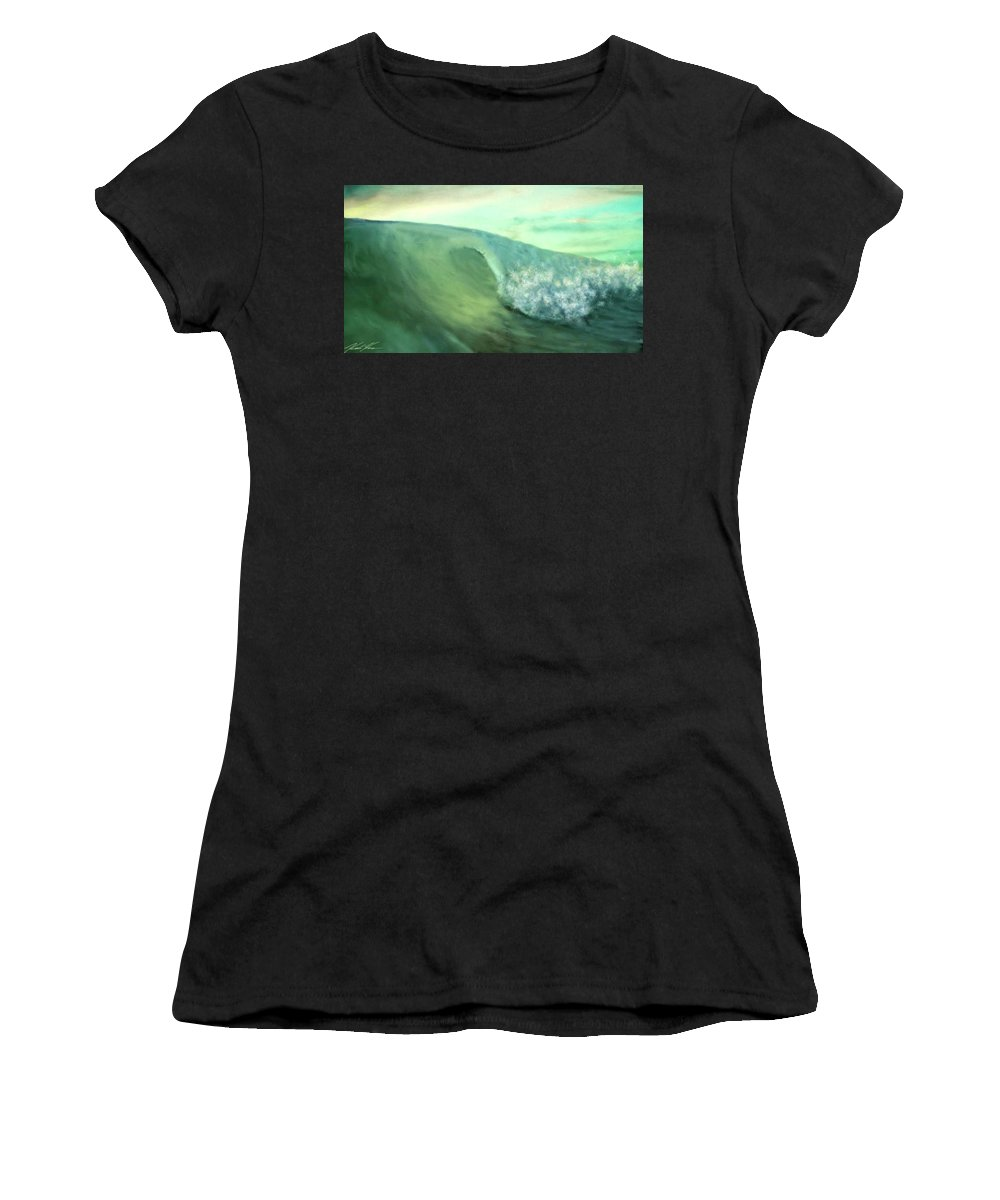 Surf Women's T-Shirt (Athletic Fit) featuring the digital art Lucky Charm by Keith Kos