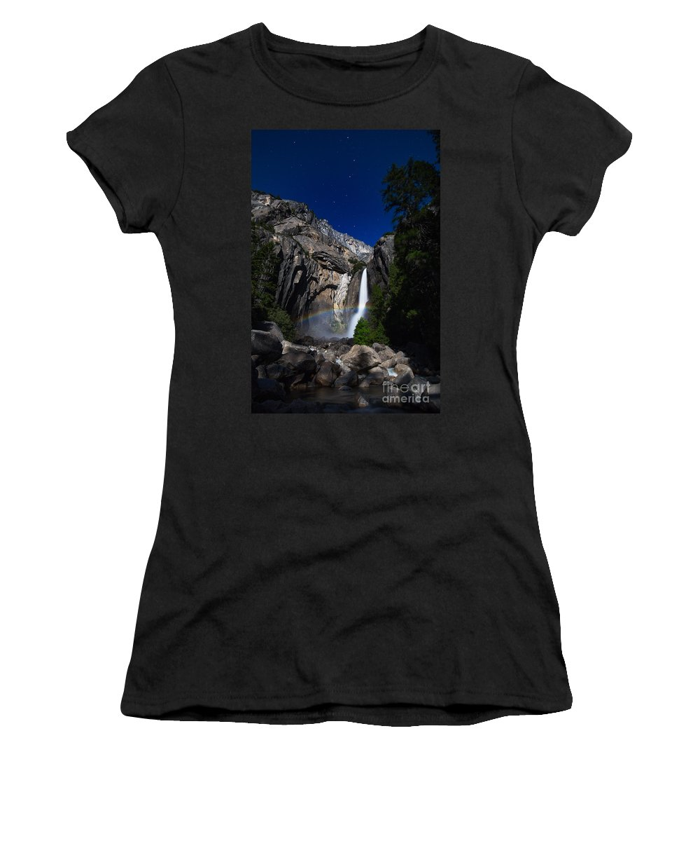 Yosemite Women's T-Shirt featuring the photograph Lunar Rainbow by Anthony Bonafede