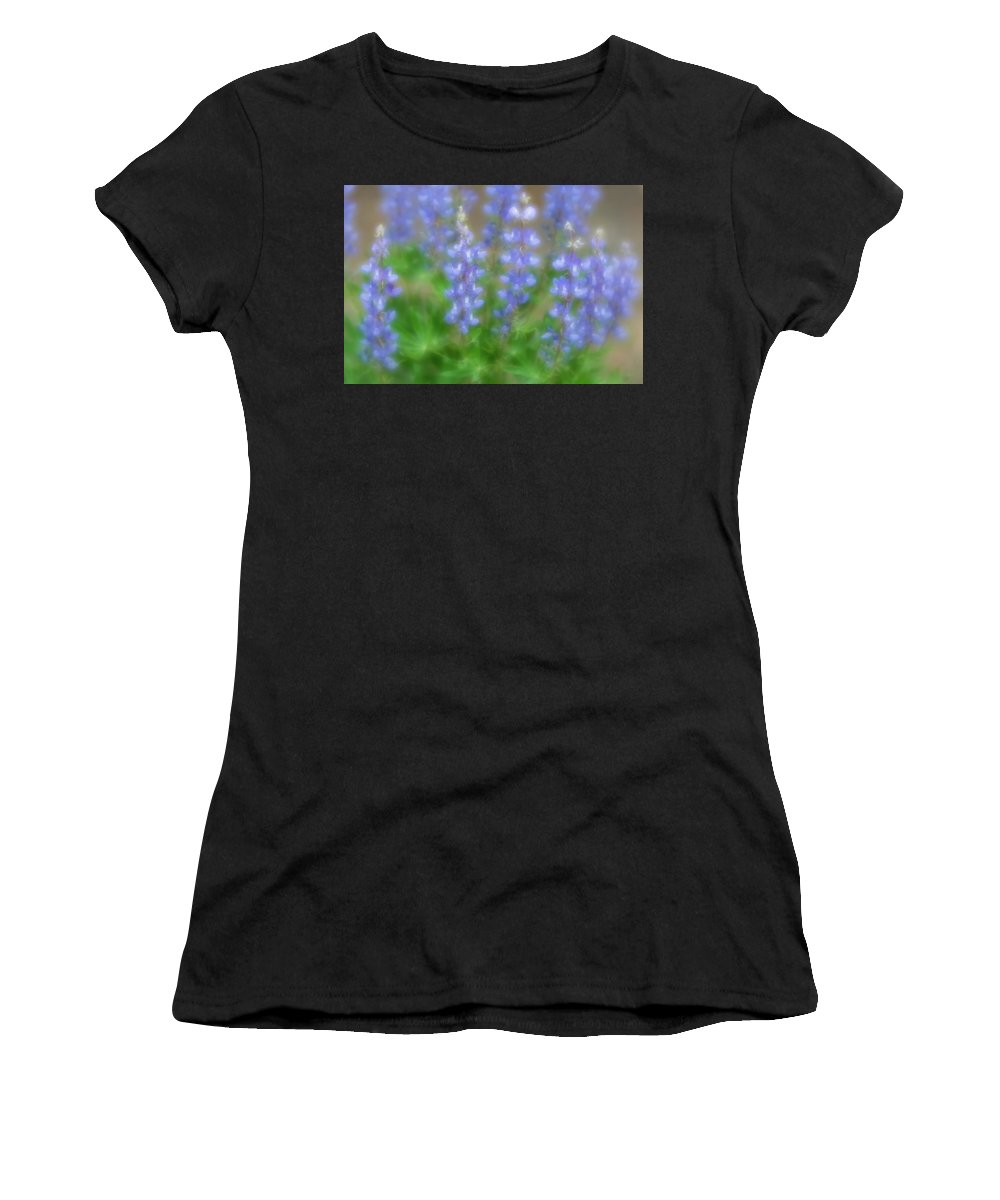 Lupine Women's T-Shirt (Athletic Fit) featuring the photograph Lupine Soft Focus by Chris Augliera